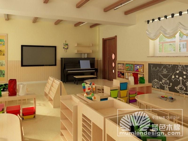 蓝色木棉幼儿园活动室贝博ballbet体育
